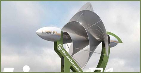 Liam F1 – ветрогенератор в форме улитки