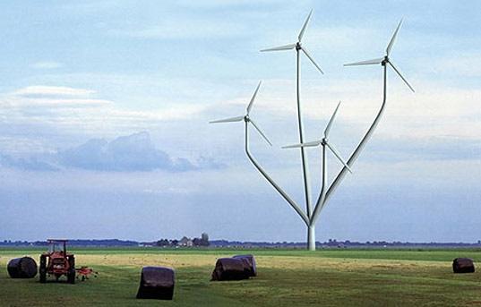 Голландский ветряк в форме дерева